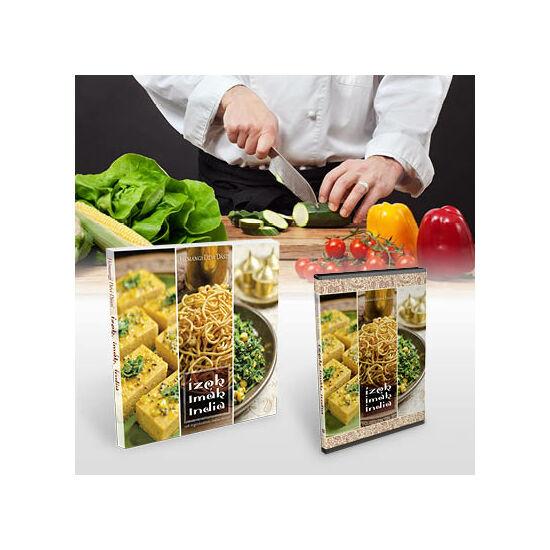 Ízek, imák, India - vegetáriánus szakácsköny + DVD + főzőtanfolyam