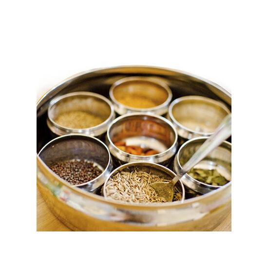 Nagy indiai fűszercsomag + Fűszertartó