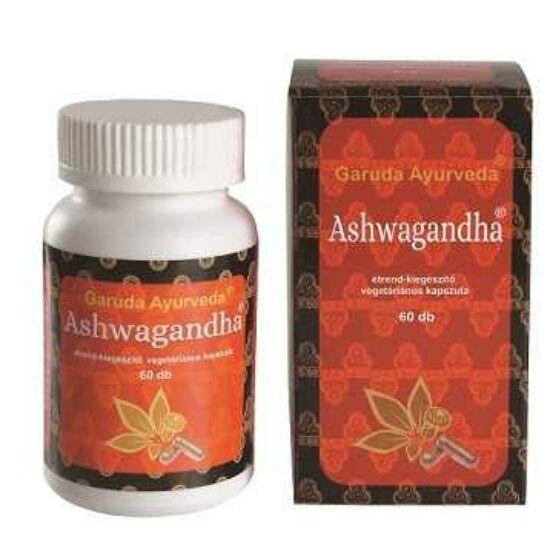 Garuda Ayurveda Ashwagandha/Ashwaganda (Indiai Ginzeng) stressz és fáradékonyság kezelésére 60db