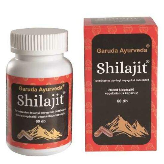 Garuda Ayurveda Shilajit immunerősítő, vitalitásfokozó vegán kapszula 60db